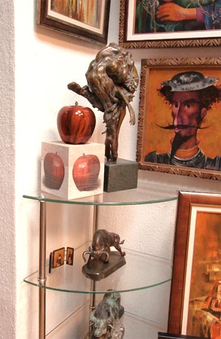 Red Apple in gallery